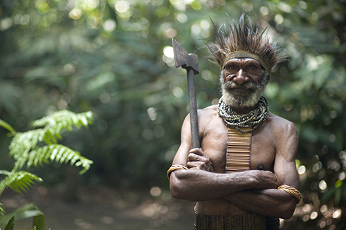 Clansman of the Nokpa Tribe, Mount Hagen, Papua New Guinea
