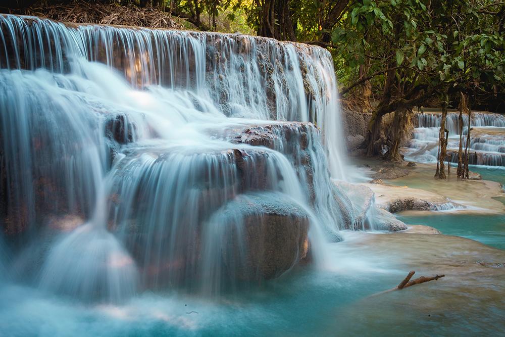 Kuang Si Falls, Luang Prabang, Laos by Veronica